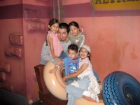 The man with the kids