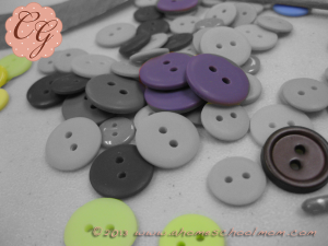 Button Necklaces #5