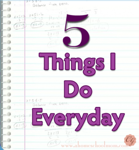 5_Things_I_Do_Everyday