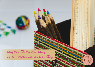 Why the Daily Checking of Our Children's Work is Key