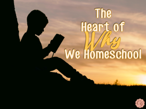 The Heart of Why We Homeschool